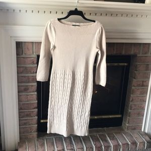 Lauren by Ralph Lauren cream knit dress Medium